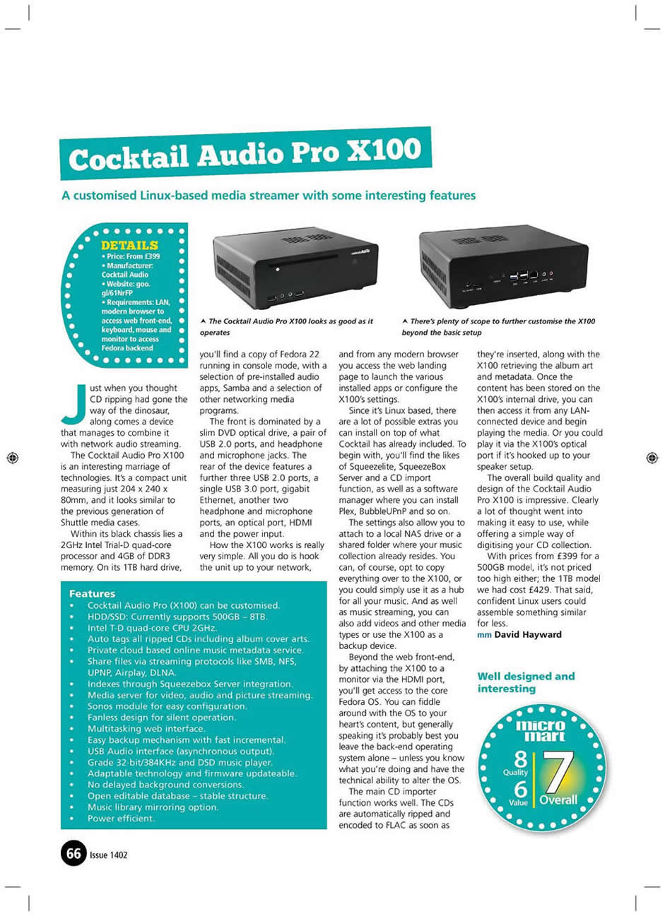 cocktail Audio X100 Review